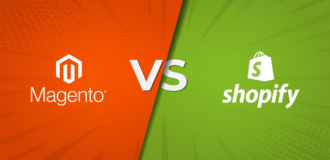 Top 5 Unusual Factors to  decide between Magento 2  and Shopify commerce